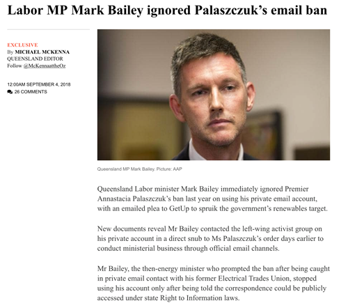 Queensland Government Minister using private email account despite ban from Premier